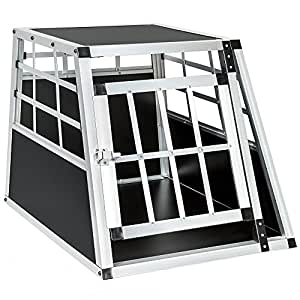 TecTake® Alu Hundetransportbox small single (B/TH: 54/69/50cm)