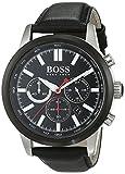 Hugo Boss Herren-Armbanduhr Chronograph Quarz Leder 1513191