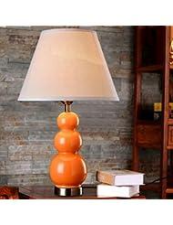 mesa de cerámica lámpara de cabecera del dormitorio de la lámpara minimalista moderna del jardín lámpara decorativa (Sin fuente de luz) , orange