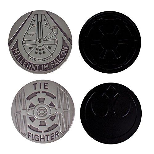 Star Wars Metall Untersetzer, Weißblech, Multi, 1x 9x 9cm