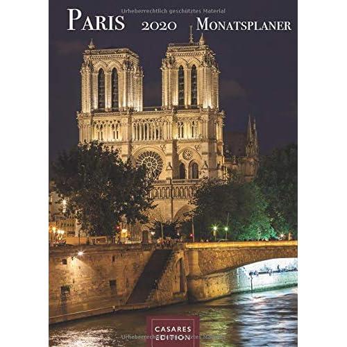 Paris Monatsplaner 2020 30x42cm