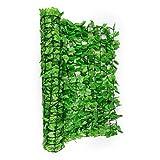blumfeldt Fency Bright Ivy • Sichtschutz • Windschutz • Lärmschutz • 300 x 150 cm • Efeublätter • hohe Blickdichte • kunststoffummanteltes Gitternetz • 6 x 6 cm Maschenweite • hellgrün