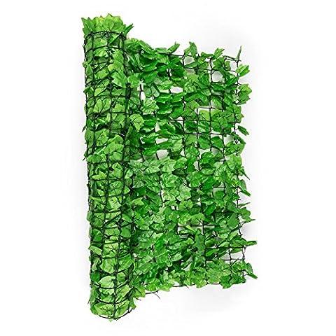 Blumfeldt Fency Bright Ivy - Clôture brise-vue en imitation lierre de 300x150 cm pour balcon, terrasse, jardin - vert