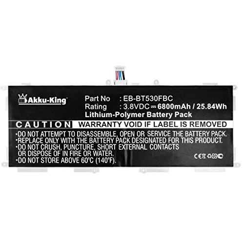 Akku-King Akku kompatibel zu Samsung Galaxy Tab 4 Education, Galaxy Tab 4 10.1 - ersetzt EB-BT530FBC - Li-Polymer 6800mAh