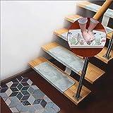 WJSWM hochwertige PVC-PU-Teppiche für Treppenstrecken Teppiche Anti-Slip Selbstbehälterreger waschbares Rechteck Osmanen, 3 Farben (Größe: 55x22x4cm),C/55x22CM,1piece