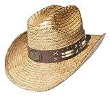 Cowboyhut Braun Stabil 'Arizona' Hutband Strohhut