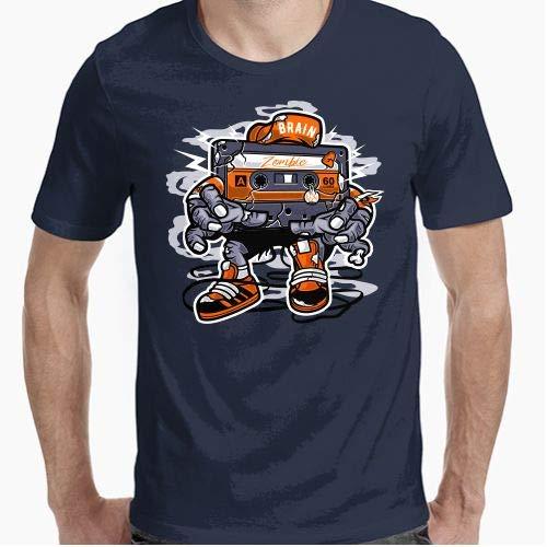 Camiseta - diseño Original - Brain Zoombie Cassette - L