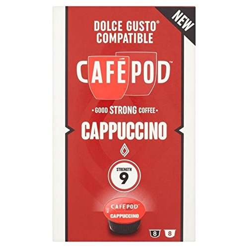Choose CafePod Cappuccino Dolce Gusto Compatible Capsules 8 per pack - CafePod
