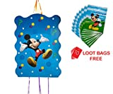 #7: AMFIN® (Pack of 1) Khoi Bags For Birthday party Decoration items / Loot bags for birthday / Mickey Mouse Party Supplies …+ (10 Loot Bags Free)
