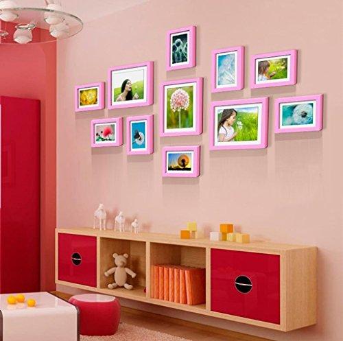 Home @ Wall Bilderrahmen Massivholzrahmen Wandaufkleber Kreative Wohnzimmer Esszimmer Schlafzimmer Kombination ( Farbe : F , größe : 145*76CM )