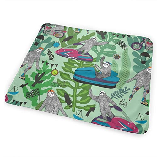 Sloths Need For Speed Portable Waterproof Baby Changing Pad Diaper Large Size (25.5