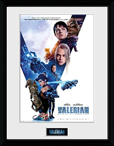 Preisvergleich Produktbild 1art1 106732 Valerian – Die Stadt Der Tausend Planeten - Compilation 1 Sheet Gerahmtes Poster Für Fans Und Sammler 40 x 30 cm