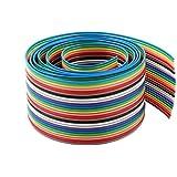 1.27mm Tono 26 Pines Plano IDC Cinta Cable Alargador 0,9 m Arco iris Color