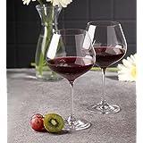 Bohemia Crystal Wine - Glass Set, Non Lead Crystal Viola wine Glass 570ml set of 6 Pcs