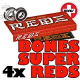 Bones Super Reds Bearings - Pack Of 4