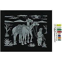 Relieve Camel pintura del brillo del fieltro del kit de materiales Actividad del Estudiante Craft Hobby