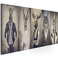 murando Cuadro Ciervo 135x45 cm - Impresion en calidad fotografica - 1 Parte - Cuadro en lienzo tejido-no tejido - Paisaje Naturaleza Animale g-B-0041-b-a