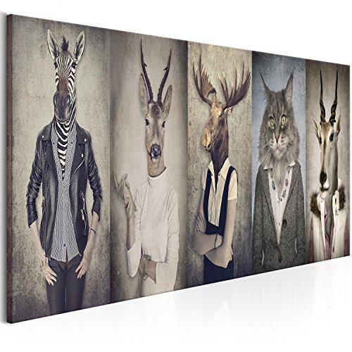 murando Cuadro en Lienzo Ciervo 135x45 cm 1 Parte Impresión en Material Tejido no Tejido Impresión Artística Imagen Gráfica Decoracion de Pared Paisaje Naturaleza Animal g-B-0041-b-a