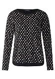 Cecil Damen Langarmshirt B312561, Mehrfarbig (Black 30001), XX-Large