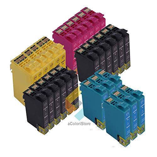 Kit cartucce compatibile per Epson serie T1631 T1632 T1633 T1634 30 Pezzi WORKFORCE WF2010W, WF2510WF, WF2520NF, WF2530WF, WF2540WF, WF2630WF, WF2650DWF, WF2660DWF