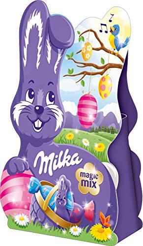Preisvergleich Produktbild Mischung aus Alpenmilch Schokolade MILKA MAGIC MIX (36 g / 5 - tlg.) OSTERHASEN - MIX