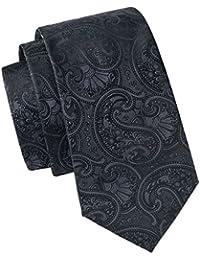 Hi-Tie Set mit Krawatte, Einstecktuch und Manschettenknöpfen in schwarz-weißem Punktemuster, gewebte Seide