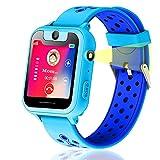 Vannico Localizador GPS Niños, Reloj GPS Niños Localizador Con SOS Anti-Lost Alarm Para Tarjeta Pantalla Táctil Smartwatch Para 3-12 Años De...