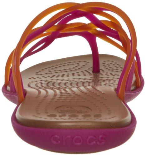 crocs Damen Huarache Flip-Flop W Zehentrenner Pink (Fuchsia/Bronze)