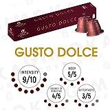 100 nespresso kapseln, Kaffeekapseln, kompatibel für nespresso maschinen, mischkarton (10 x 10 Kapseln) (2. GUSTO DOLCE)