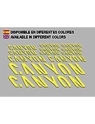 PEGATINAS CANYON F157 VINILO ADESIVI DECAL AUFKLEBER КЛЕЙ MTB STICKERS BIKE (AMARILLO)
