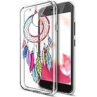 Moto G3Funda, Motorola Moto G3Funda, ikasus Ultra Thin Suave TPU Caso, colorido arte pintado Mandala flores suave silicona caso de goma, cristal transparente floral suave silicona Carcasa trasera para Moto G5,
