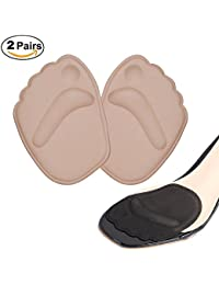 Doact Plantillas de Zapatos para Tacón Alto( 2 pares ) Alivia el Dolor en el Antepié, El Neuroma de Morton y Ajustar el Tamaño del Zapato para las Mujeres (Beige + Negro)