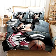 Vampsky American Anime Disney Mickey Mouse Children's Bedding 3D Printed Cartoon Quilt Cover Comfortable And Soft, Anti-stat