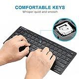 TeckNet X315 Ultra Slim Kabellose Mini Tastatur Schwarz