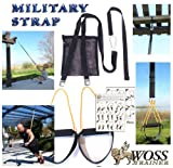 WOSS Military Strap Schlingen Trainer, Schwarz, mit integriertem Türanker, Made in USA Suspension System