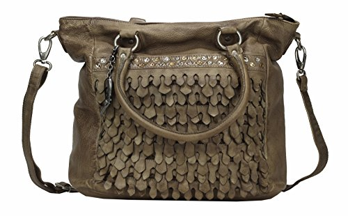 Billy the Kid Reptile Borsa tote pelle 41 cm Khaki
