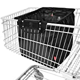 achilles Easy-Shopper Combi, Borsa per carrello della spesa, Easy-Shopper Alu, pieghevole shopping bag, shopping bag adatto a tutti i comuni carrelli della spesa, Negro, 54 cm x 35 cm x 39 cm