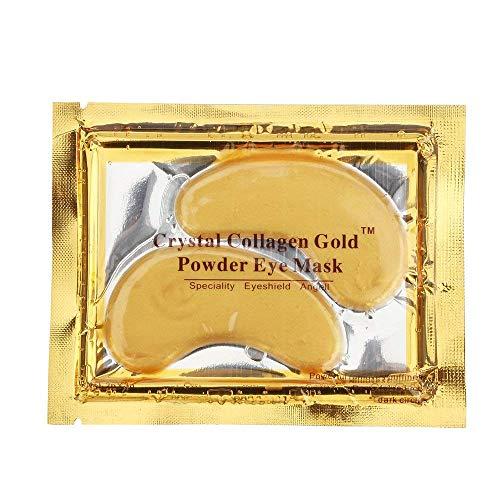 Hailicare 10 coppie maschera per occhi 24k oro collagene gel cristallo anti-invecchiamento e anti-rughe per idratante e rimuovi le borse sotto l'occhio occhiaie e gonfiore
