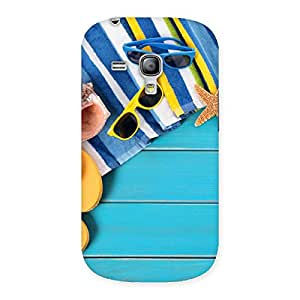Stylish Cool Beach Print Back Case Cover for Galaxy S3 Mini