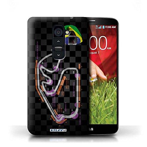 Kobalt® Imprimé Etui / Coque pour LG G2 / USA/Austin conception / Série 2014 F1 Piste Brésil/São Paulo