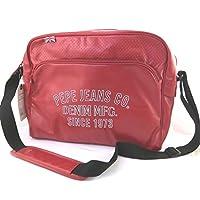 Bolsa de hombro 'Pepe Jeans'rojo de la vendimia (formato pc)- 39x29x11 cm.