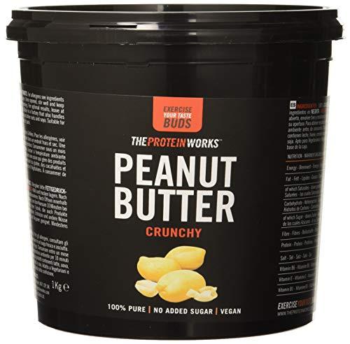 The protein works burro di arachidi, super croccante da 1kg - fonte naturale di proteine - 100% di arachidi tostate - senza aggiunta di sale o zuccheri - adatto per la dieta vegana - senza glutine