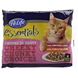 HiLife Essentials Cat Food Chunky Choices in Gravy '52 x 85g Pouches'