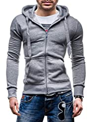 BOLF Herren Kapuzenpullover Sweatshirt Hoodie Kapuze Pullover mit Reißverschluss Pulli STEGOL AK50