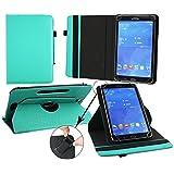 Emartbuy® Alcatel OneTouch Pixi 3 10 Zoll Tablet Universal ( 9 - 10 Zoll ) Emerald Grün 360GradRotierendeStandFolioGeldbörseTascheHülle + Türkis Eingabestift