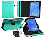 Emartbuy® Intenso TAB 1024 10.1 Zoll Tablet Universal ( 9 - 10 Zoll ) Emerald Grün 360GradrotierendeStandFolioGeldbörseTascheHülle + Türkis Eingabestift