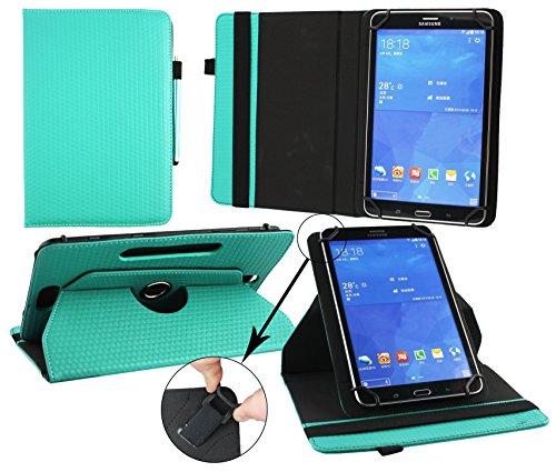 Emartbuy® Excelvan BT-1077 10.1 Pulgada Tablet PC Universal ( 9 - 10 Pulgada ) Emerald Verde 360 Grados Soporte Giratorio Folio Carcasa Wallet Case + Turquesa Lápiz Óptico