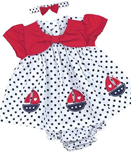 BabyPrem Babykleidung Kleidchen Kopfband & Höschen Set Schiff 62-68cm Rosa (Höschen Set Mädchen)