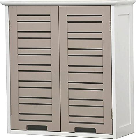 Meuble Haut 2 portes de salle de bain - Esprit Charme