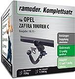 Rameder Komplettsatz, Anhängerkupplung Abnehmbar + 13pol Elektrik für Opel Zafira Tourer C (143103-09717-1)